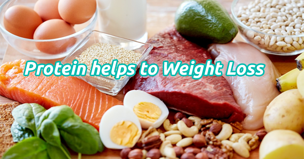 Protein has some reason where helps to weight loss